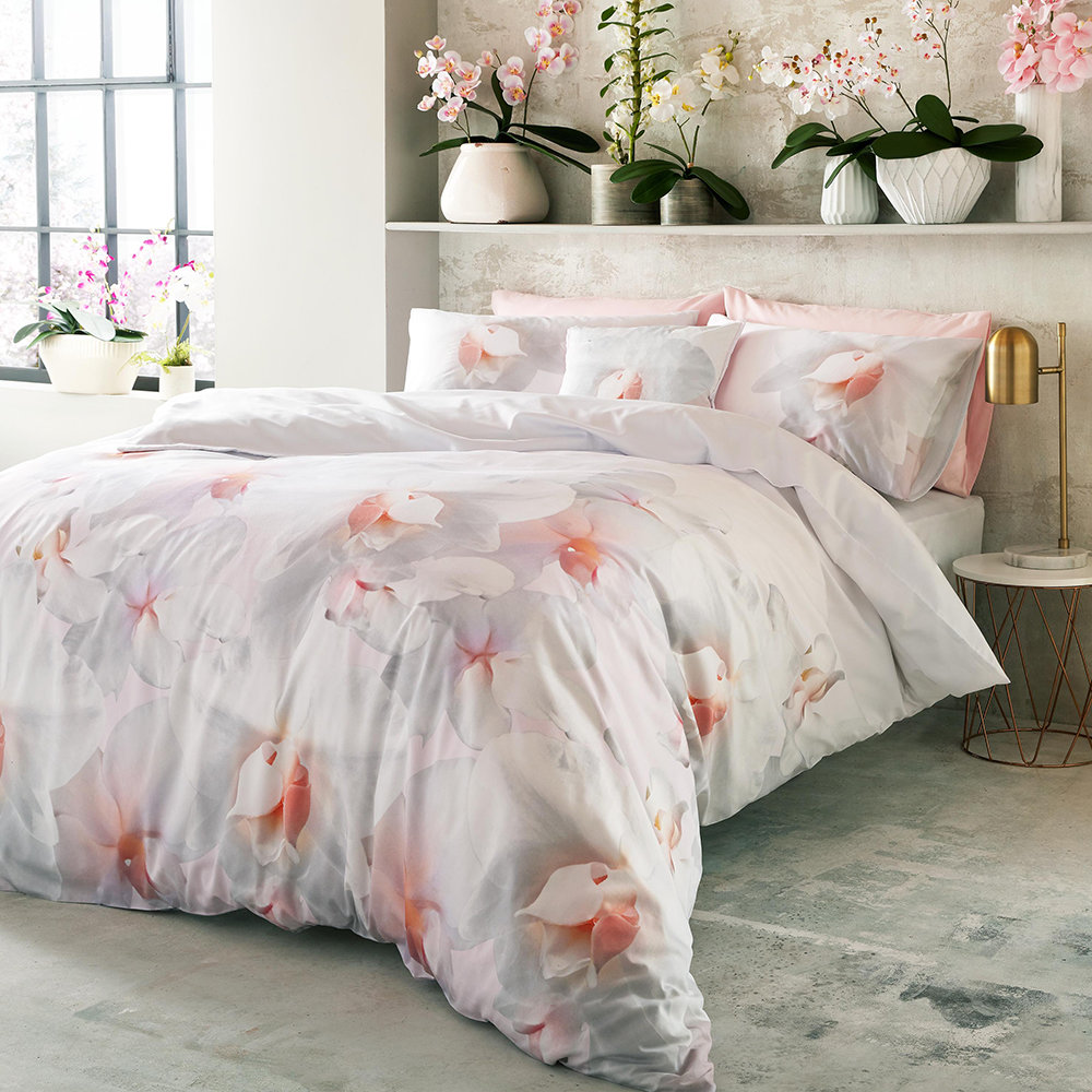 Buy Ted Baker Cotton Candy Duvet Cover Pink Super King