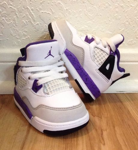 0f9a6021d0b NIKE AIR JORDAN IV 4 RETRO (TD) Size 4c ULTRAVIOLET PURPLE Girls Cute  Sneakers