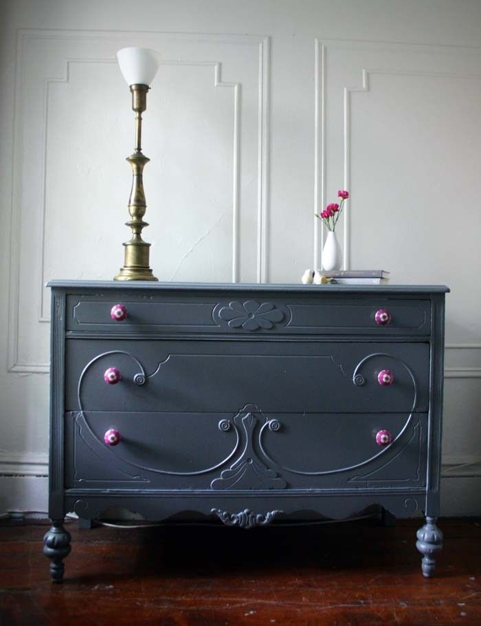This Would Be A Perfect Color For All The Rest Of The Furniture In My Room  · Gray DresserBlack ...