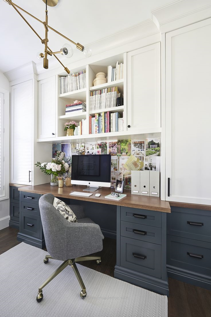 Home office- craft room- reveal- home office space- craft supply ...