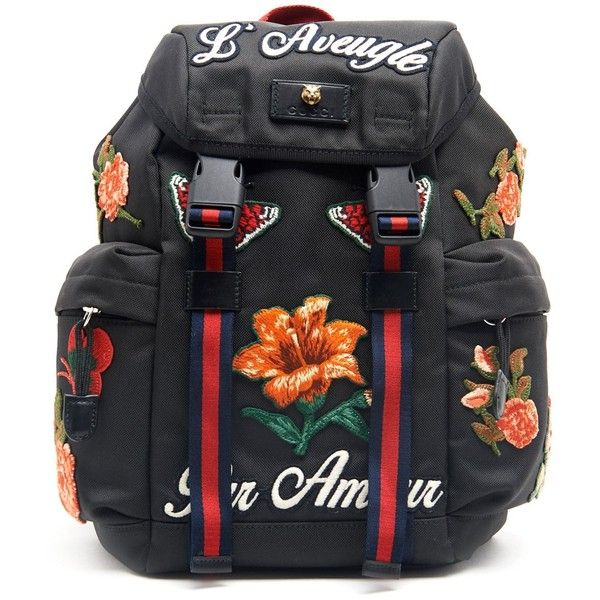 ca747ccc105 GUCCI Backpack With Canvas Patch ( 1
