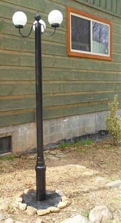 Cool Idea For A Diy Outdoor Solar Lamp Could Just Use An Old Floor Too Instead Of Building Post Out Pvc Pipe