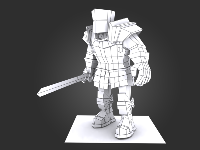 Blender Character Modeling Unity : Knight paladin wires d unity  ref low poly