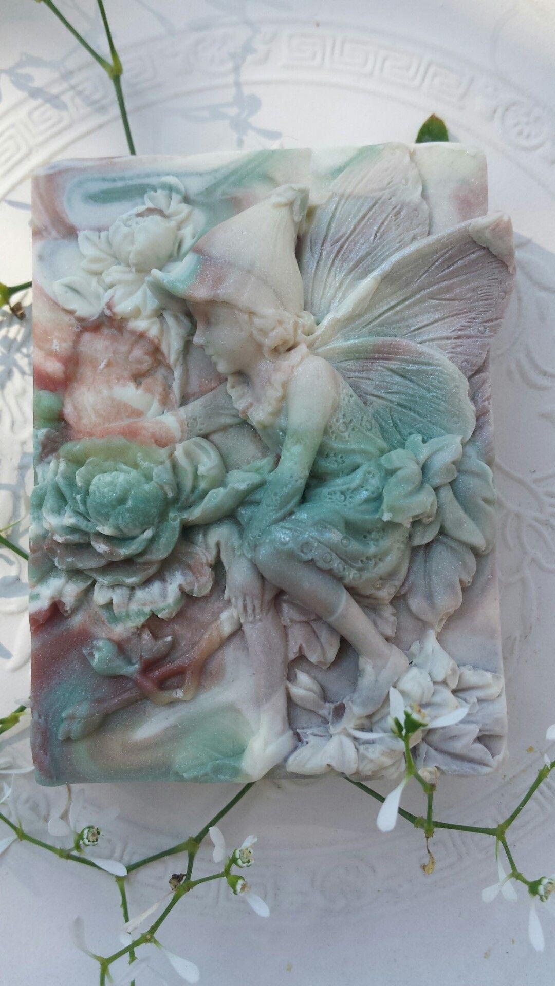 The beautiful garden fairy handmade soap with coconutmilk nice