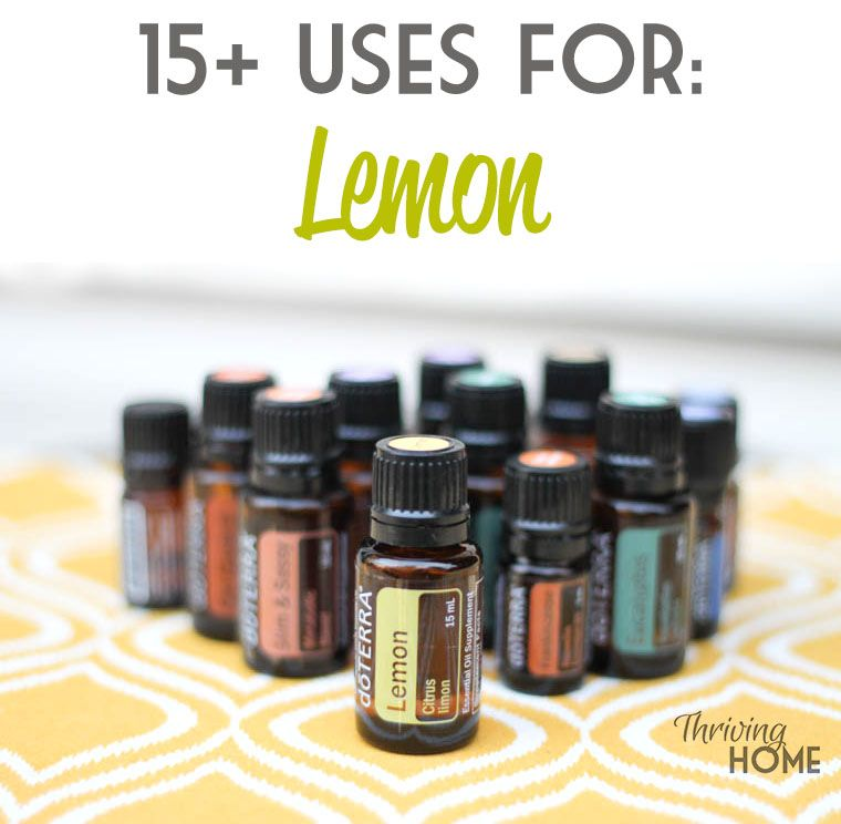 15+ Uses for doTerra Lemon essential oil
