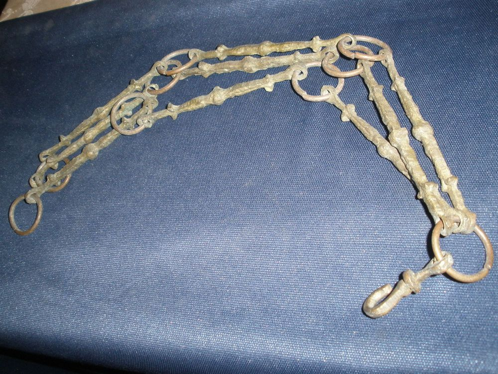Antique cast brass /bronze chain for lamp /chandelier parts with 3 ...