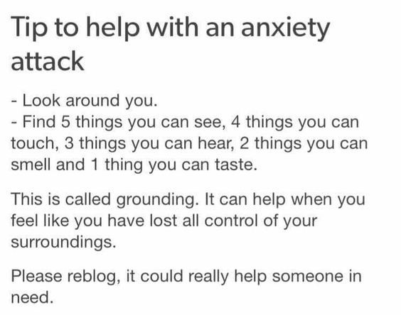 Useful. Used to have very mild anxiety attacks, only had to focus on my breathing and sit with my head between my knees. Thank goodness wasn't that bad.: