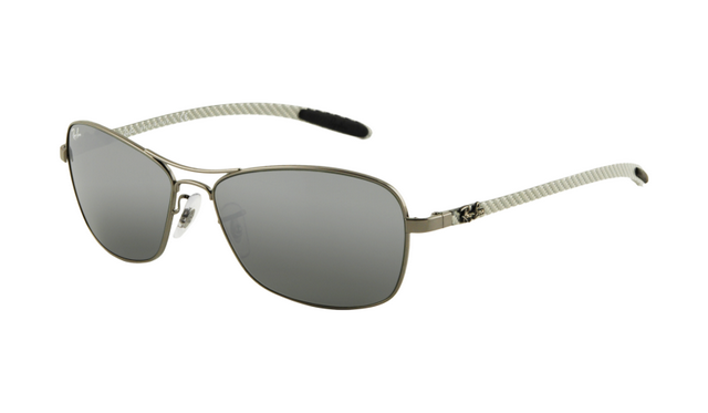 rb sunglasses outlet  Ray Ban RB8302 Tech Sunglasses Gunmetal Frame Grey Mirror ...