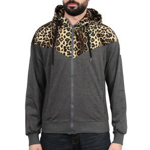 Sixth June - Leopard Hooded Jacket Gris/Leopard