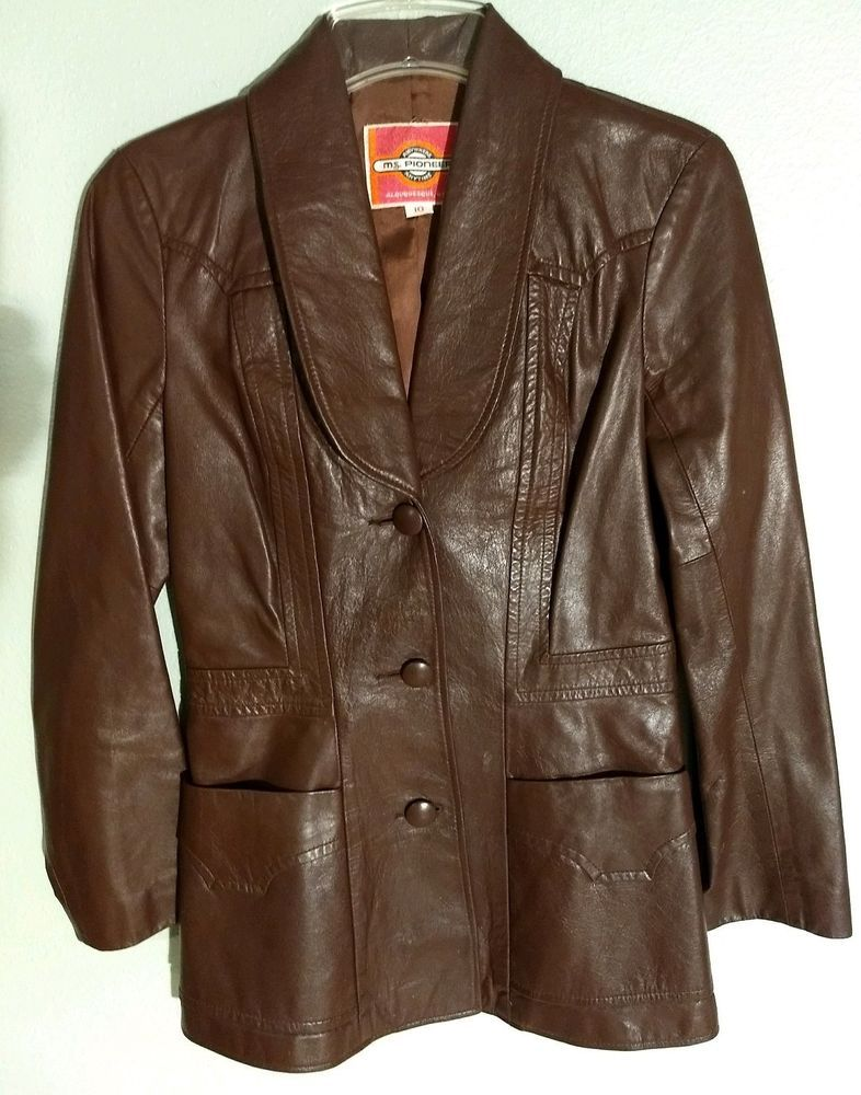 a8c611932 MS. PIONEER Women's Leather Jacket Size 10 - Very Nice! #fashion ...