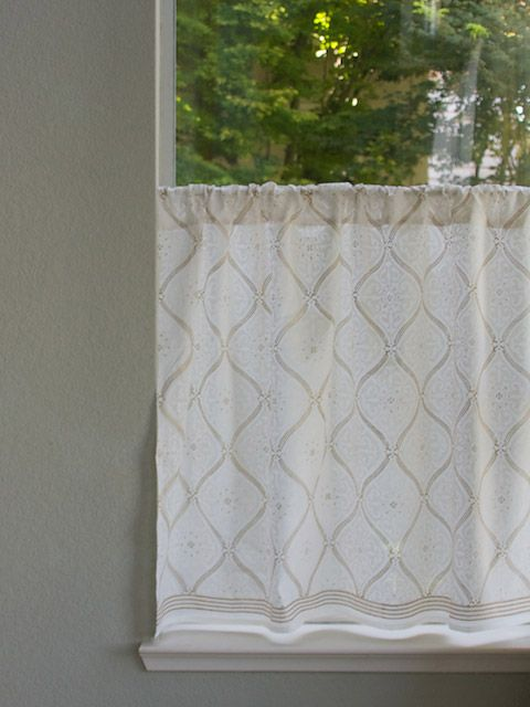 High Quality White On White Kitchen Curtain, White And Gold Kitchen Tier Curtains,  Romantic Kitchen Cafe