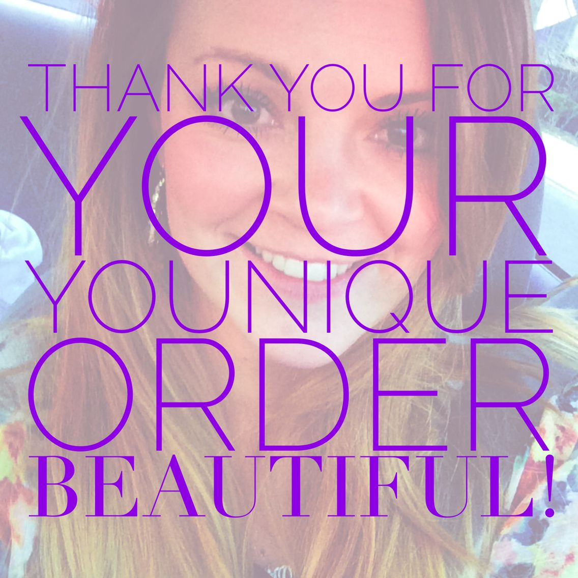 Thank you for your Younique order) younique lashes