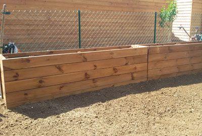 construction bac fleurs en bois d 39 ext rieur agencement. Black Bedroom Furniture Sets. Home Design Ideas