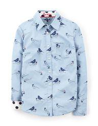 The Shirt (Blue Blush Garden Birds)