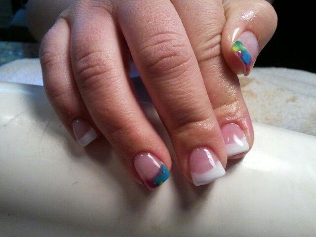 Tie Dye Acrylic Nails