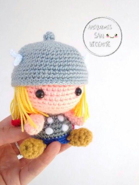 Thor amigurumi #amigurumi #amigurumis #crochet | Personajes juegos y ...
