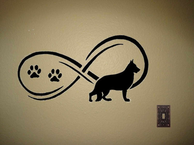 "German Shepherd Wall Decal ""Infinity"" More"