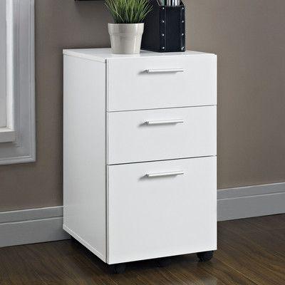 Altra Furniture Princeton 3 Drawer Mobile Filing Cabinet   office ...