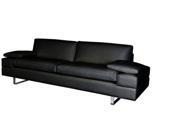 Bellini Modern Living   Lindo Black Leather 2 Piece Sofa Set   LINDO SL