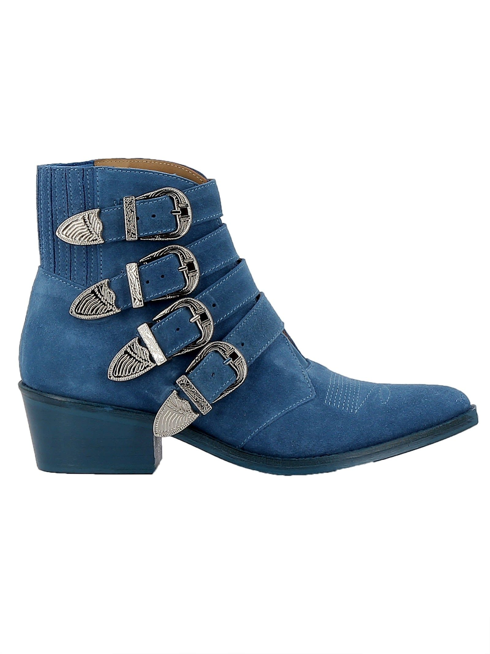 32597bbafe7 TOGA PULLA | Toga Pulla Toga Pulla Light Blue Suede Ankle Boots ...