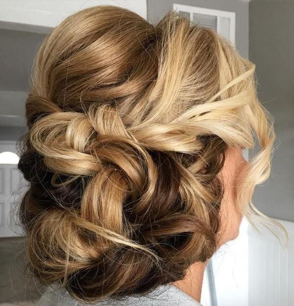 40 Stylish Long Hairstyles For Older Women Messy Updo Long