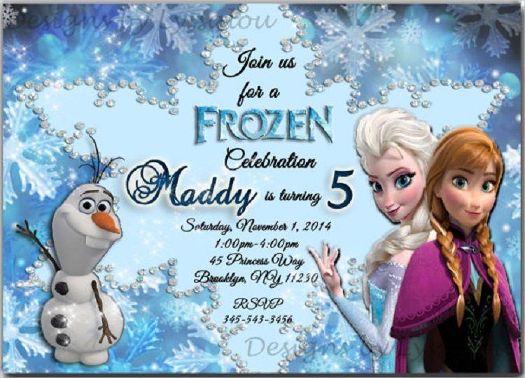 Green Birthday Invitation Card Elsa Frozen Birthday Invitations Frozen Birthday Party Invites Frozen Invitations