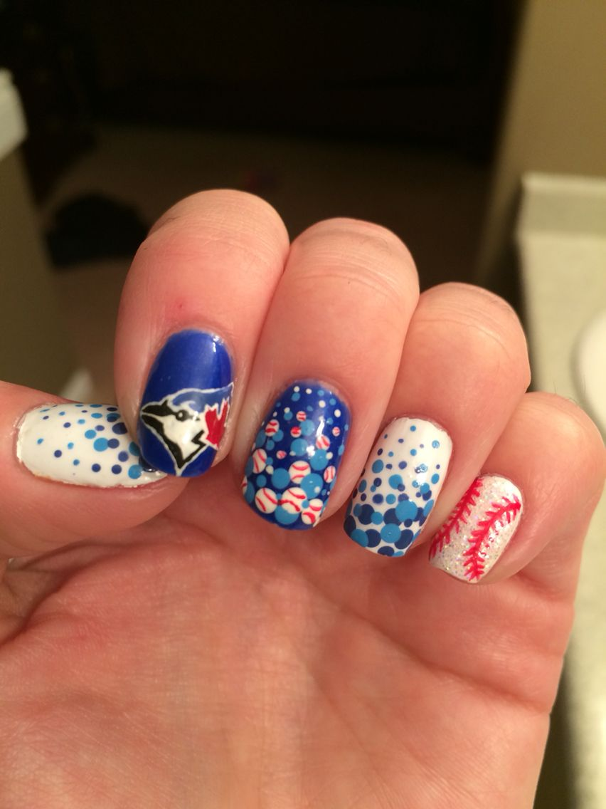 Blue jays nails - Blue Jays Nails Nail Art Designs Pinterest Jay, Baseball