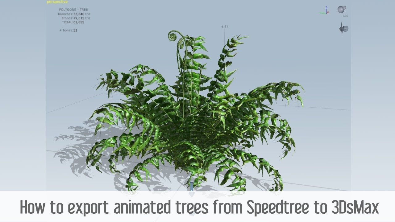 How to export animated trees from Speedtree to 3DsMax | 3D