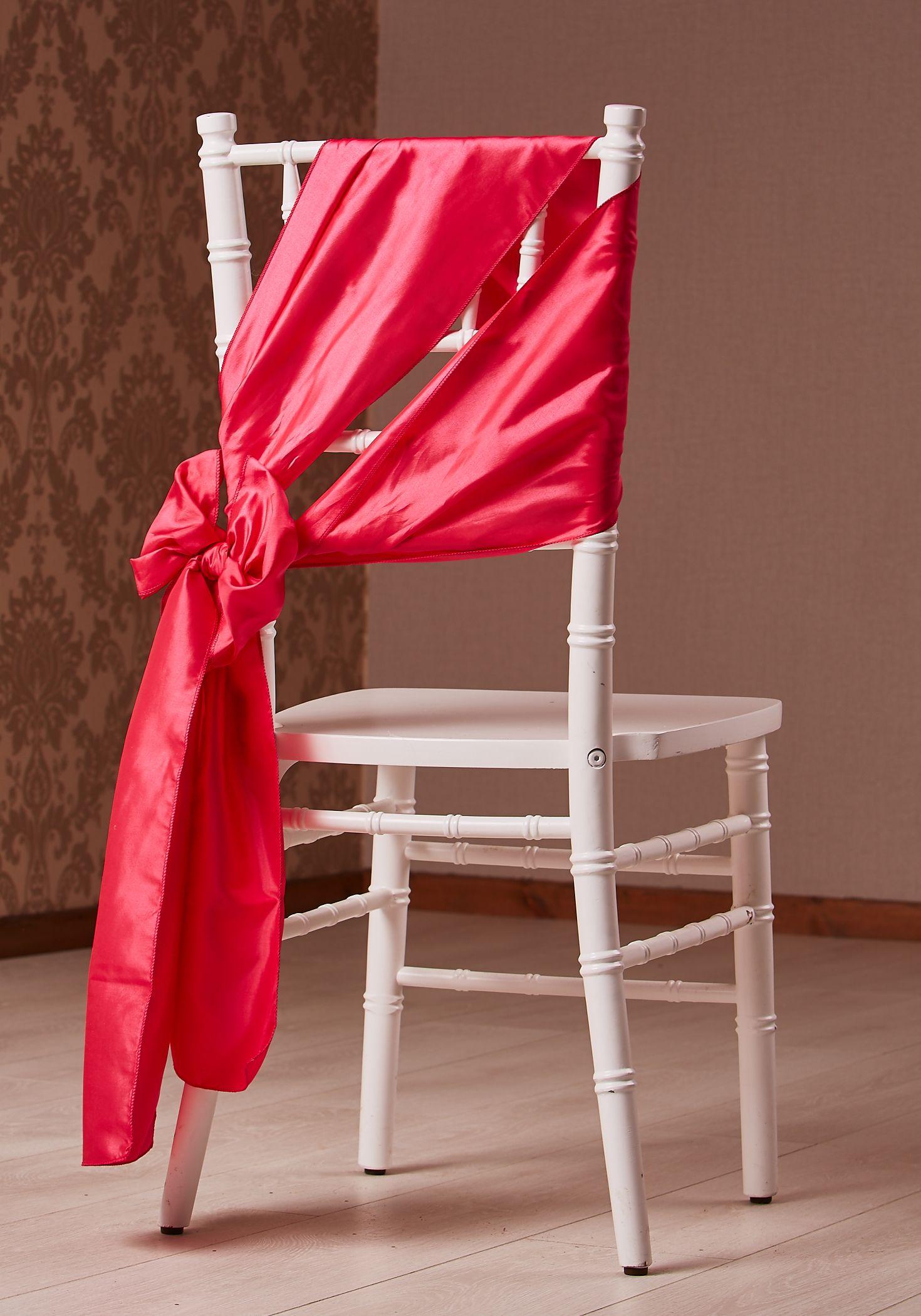 Fuschia Taffeta Chair Bow On Wedding Chiavari Chair Fleur Couture