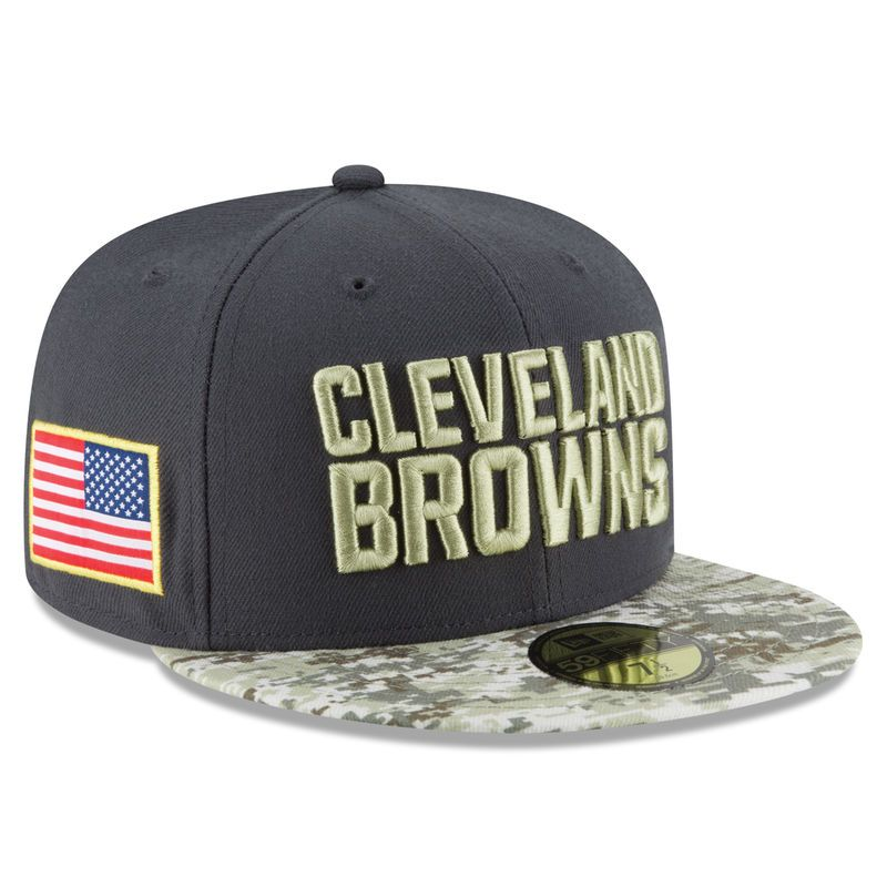low priced 12511 339ef Cleveland Browns New Era Youth Salute To Service Sideline 59FIFTY Fitted Hat  - Graphite Camo