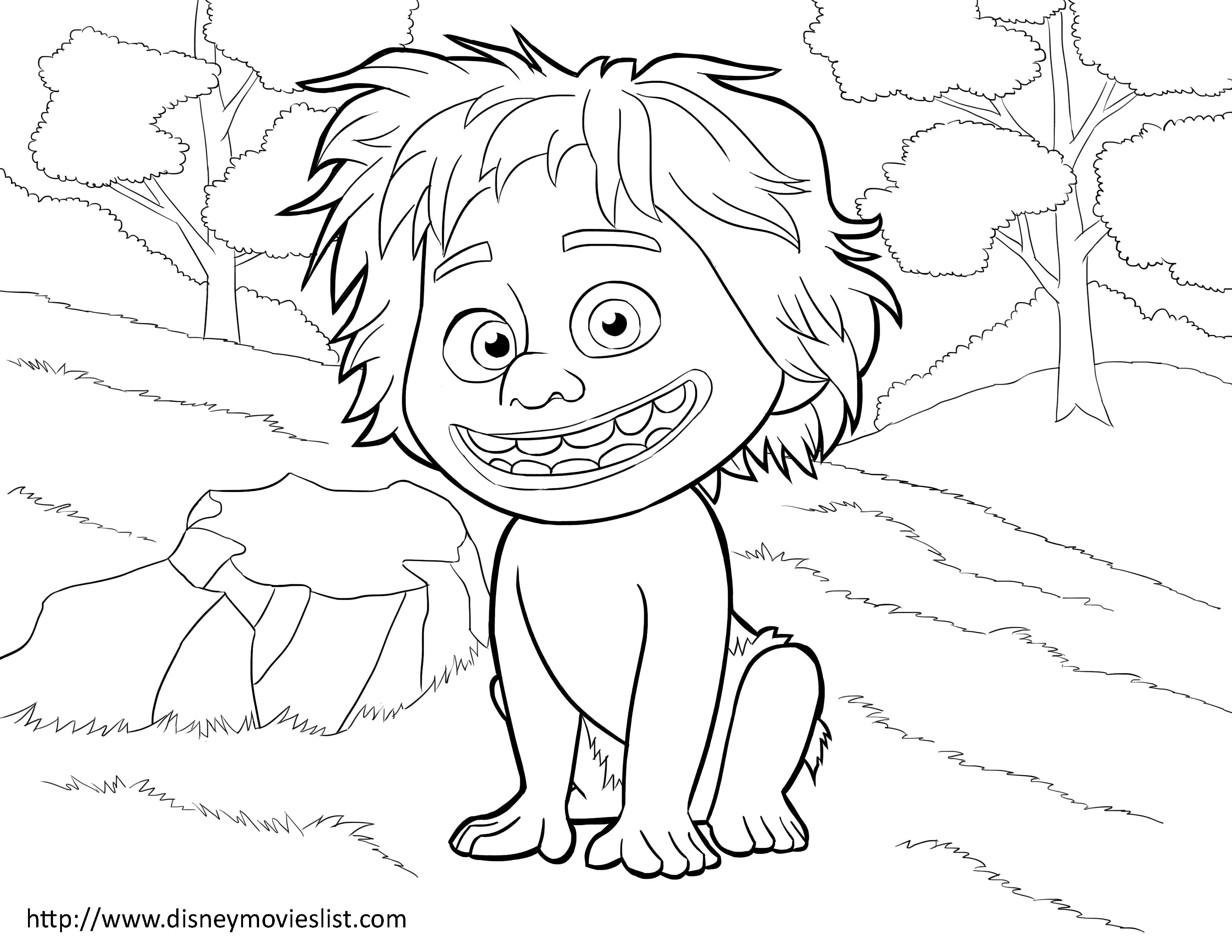 Disneys The Good Dinosaur Spot Coloring Page