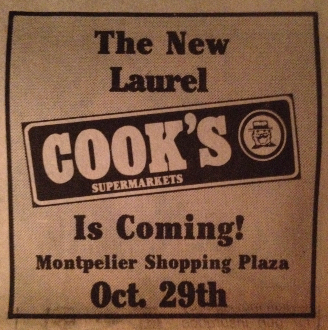 Cook's Supermarket arrives (1981). It replaced Pantry Pride, and would soon be replaced itself by Magruder's.