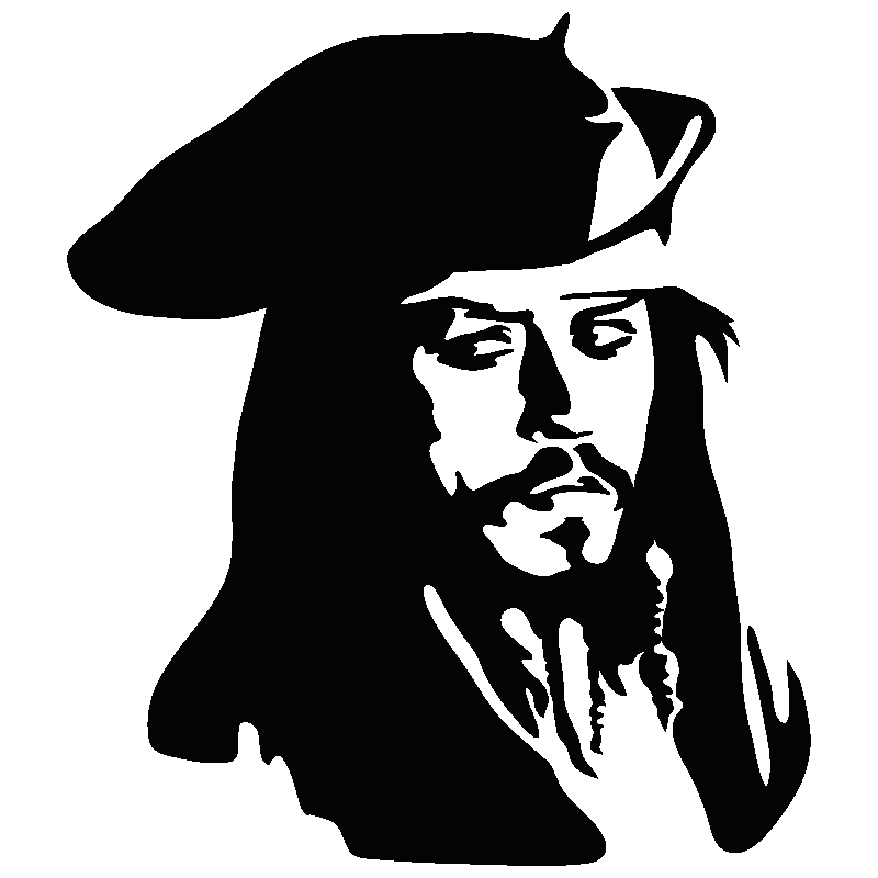 Jack Sparrow Pirates Of The Carribbean In 2020 Silhouette Art Outline Art Sparrow Art