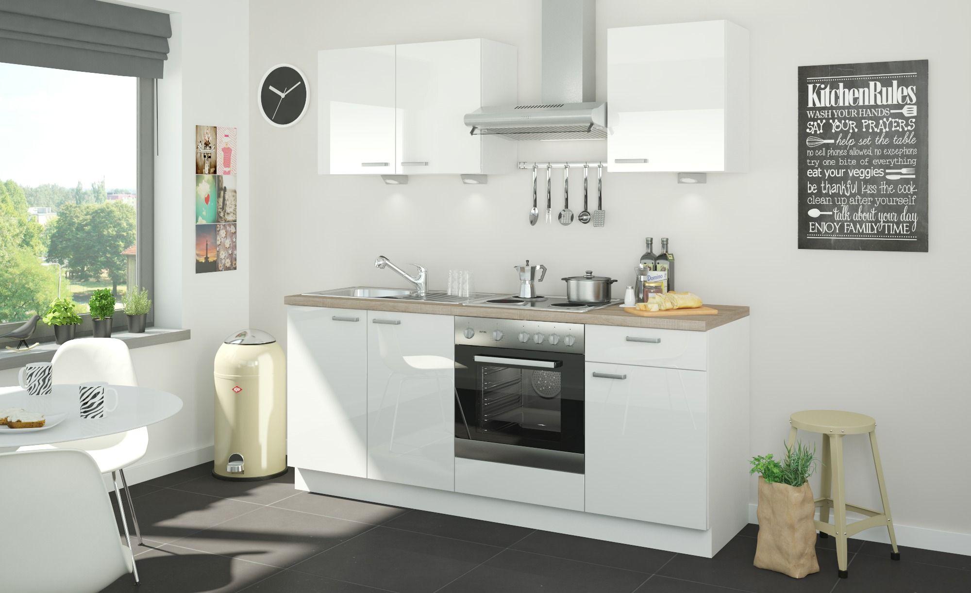 Kuchenzeile Mit Elektrogeraten Ahlen Gefunden Bei Mobel Hoffner Kuchenzeilen Dunstabzugshaube Und Kuche