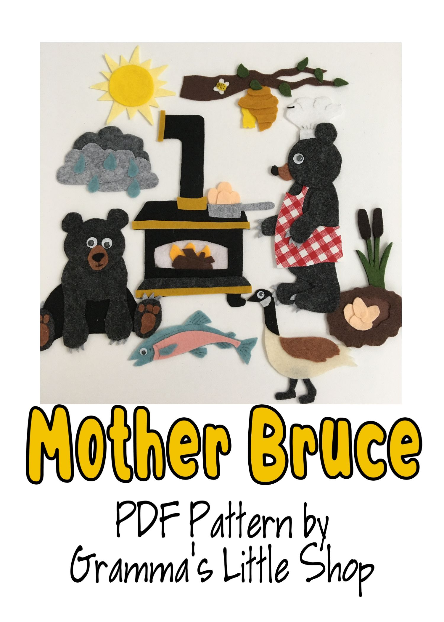 Mother Bruce Felt Pattern In 2020 How To Draw Hands Felt Stories Felt