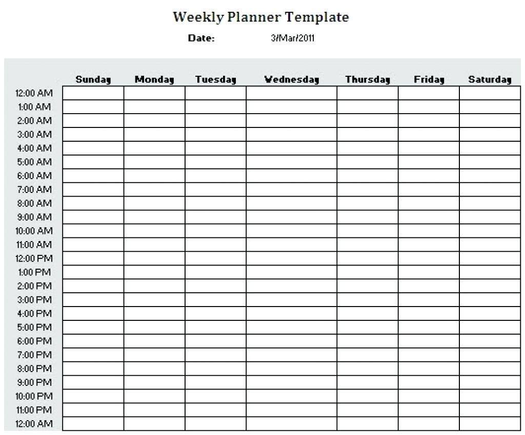 24 Hour Calendar Template Beautiful Free Hour Daily Planner Template Calendar 24 Agend Daily Planner Template Weekly Schedule Printable Weekly Planner Template