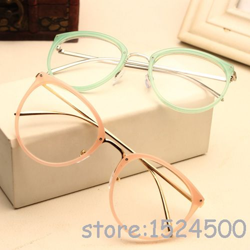 New Round Glasses Frame Vintage Women Optical Glasses Myopia Eyewear Metal  Oculos De Grau Green Red Pink Eyeglasses Gafas 430028624b