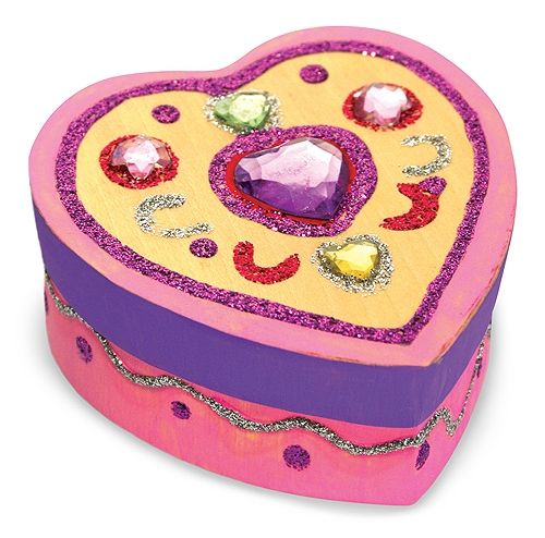 Decorate Your Own Wooden Heart Treasure Box Treasure boxes Wooden