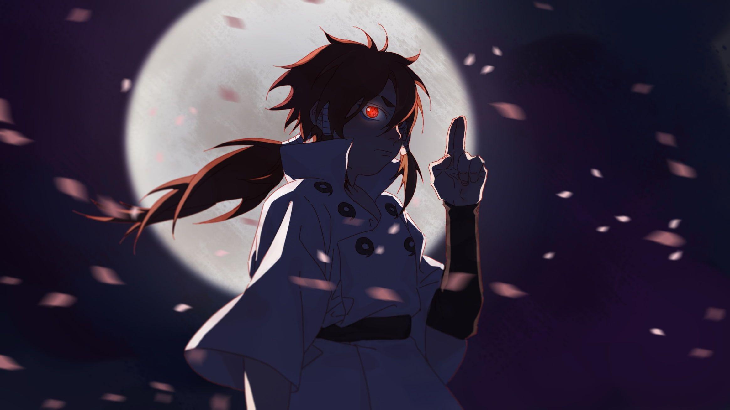 Otsutsuki Indra Naruto Moon Petals Sharingan Anime 1080p Wallpaper Hdwallpaper Desktop Naruto Anime Naruto Anime