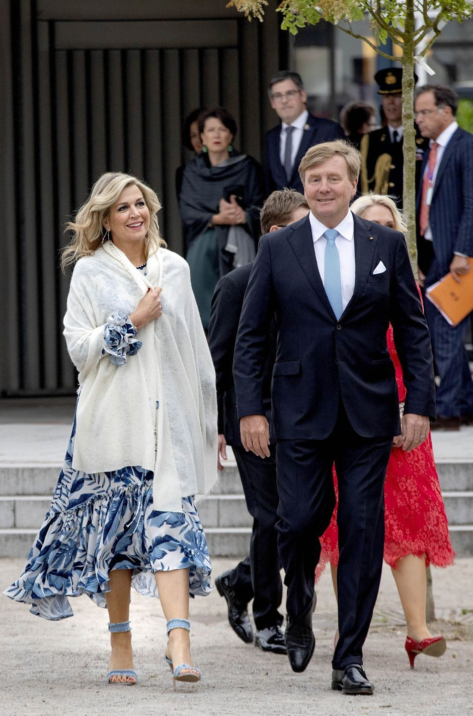 The King And Queen Of The Netherlands Attend Diner In Warnemunde
