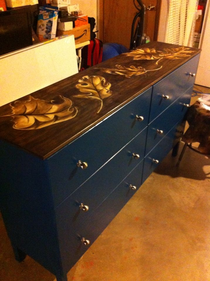 My ikea tarva hack, including some drawing with stain