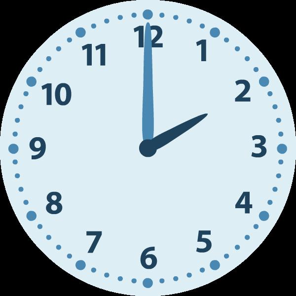 Wonderlijk Rekenen groep 4   Klokkijken   Analoge klok   Algemeen   Hele uren UE-02