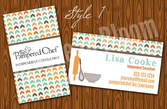 Custom Pampered Chef Business Card By Brookeinbloomdesigns On Etsy 8 00