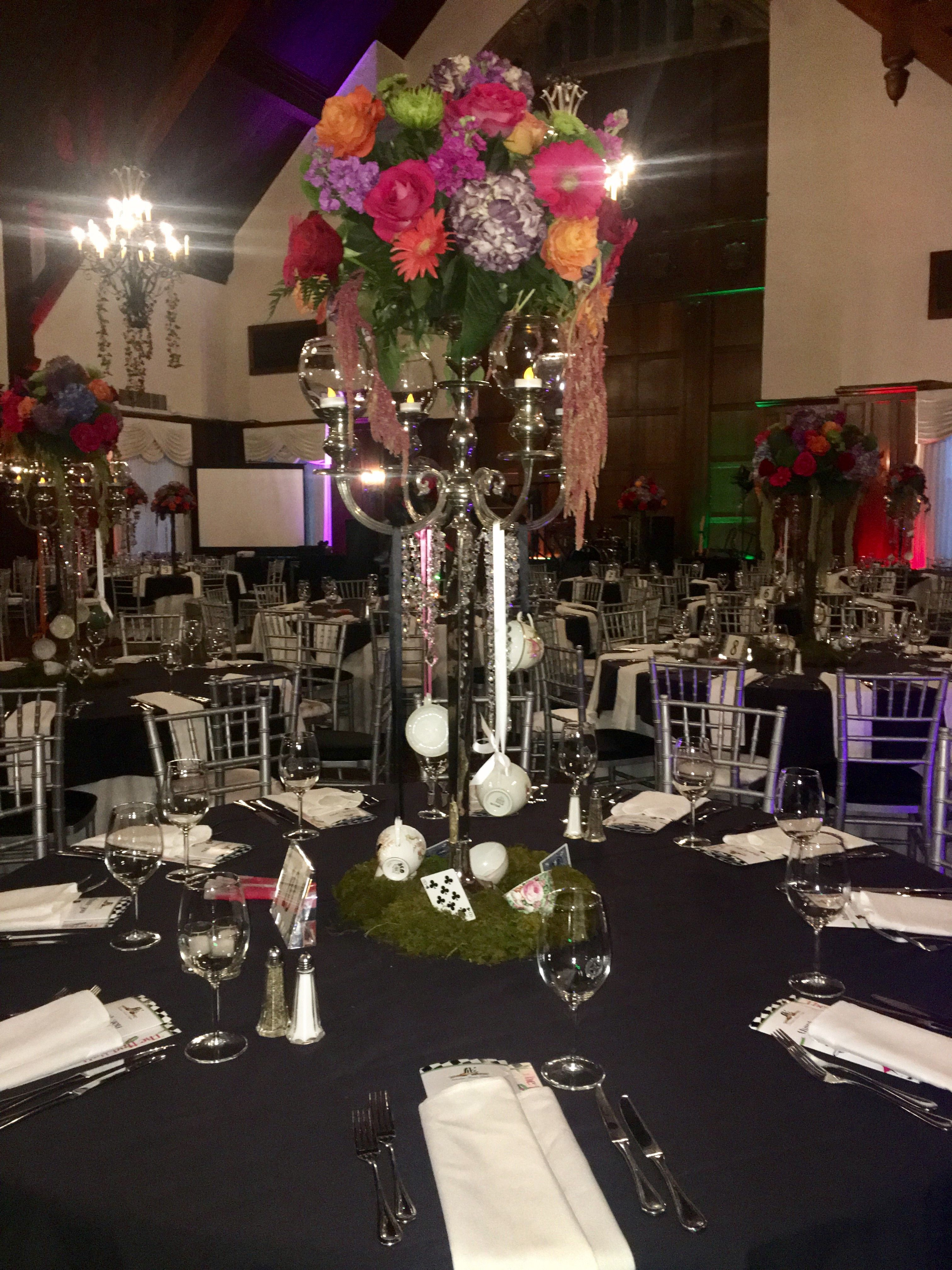 Fundraising event Table Decor for an Alice