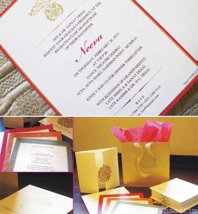 Indian Wedding Invitations From India