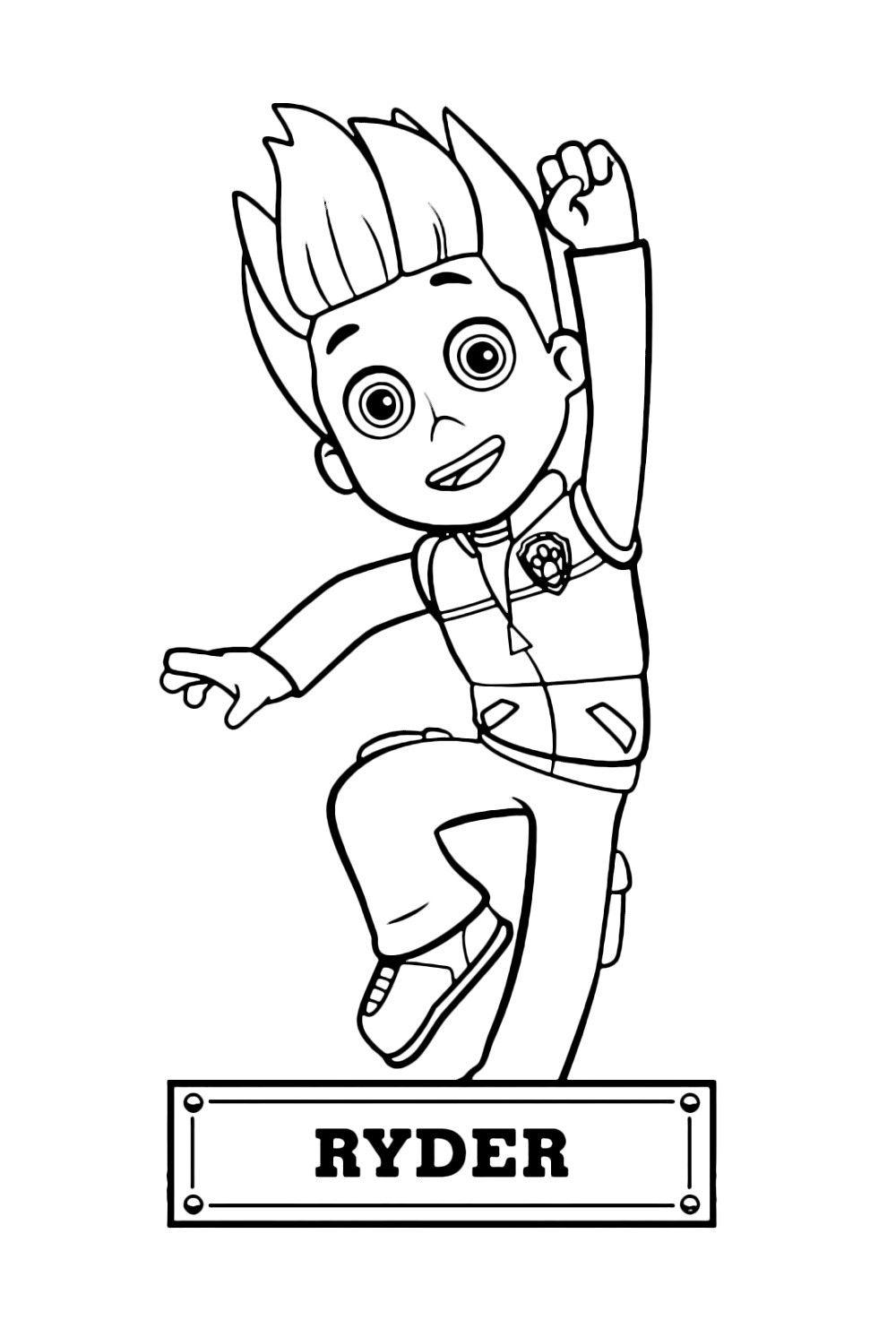 Ryder Paw Patrol Coloring Pages Malarbok Foreskoleaktiviteter Barn