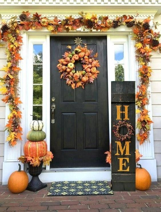 Fall Harvest Porch Sign #fallfrontporchdecor