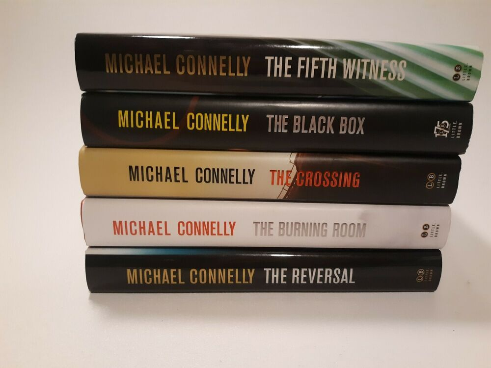 Lot of 5 michael connelly hard cover crime books bosch