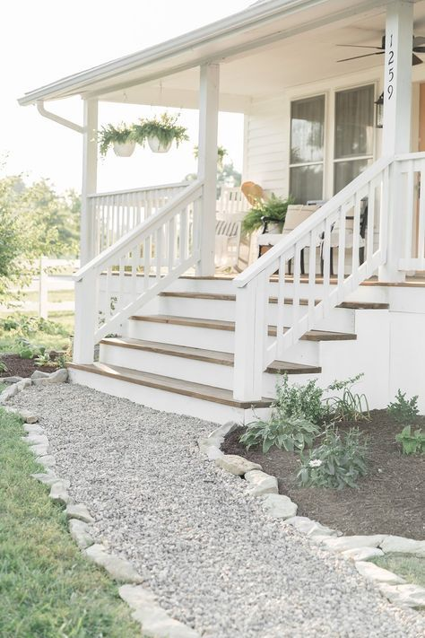 How to Update a Cracked Sidewalk with a DIY Gravel Path is part of Outdoor remodel, Home landscaping, Gravel path, Outdoor walkway, Sidewalk landscaping, Dyi landscaping ideas - Learn how to lay a gravel path to cover up old cracking sidewalk  This cheap and easy DIY project can transform your landscaping in less than an hour