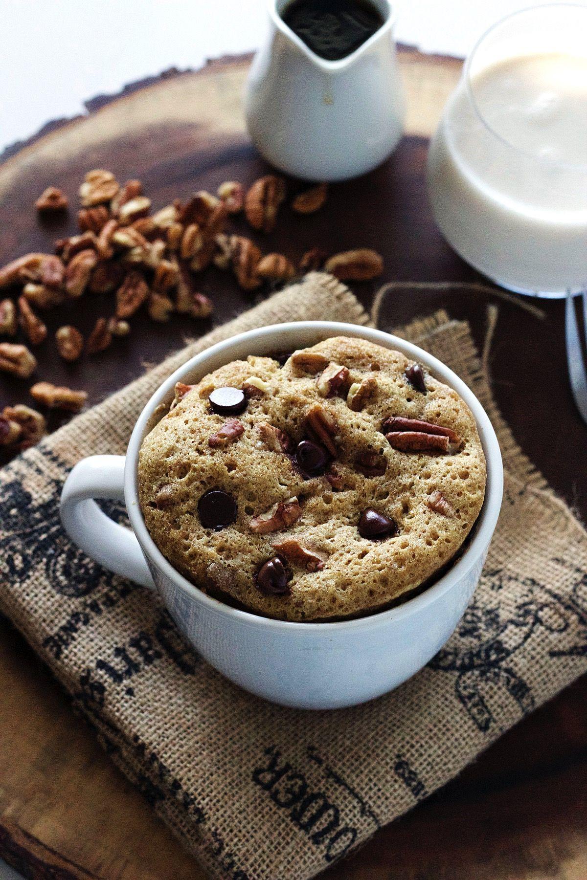 Chocolate Chip Pecan Mug Cake-The Almond ...